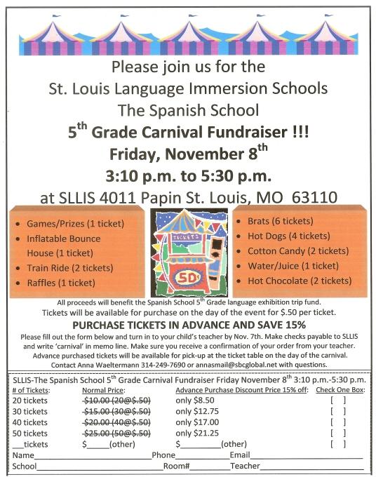 5th Grade Carnival SLLIS 20130001