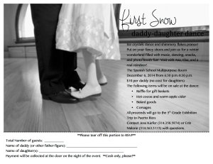 Daddy Daughter Dance flyer