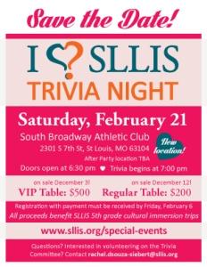 I Love SLLIS Trivia Night